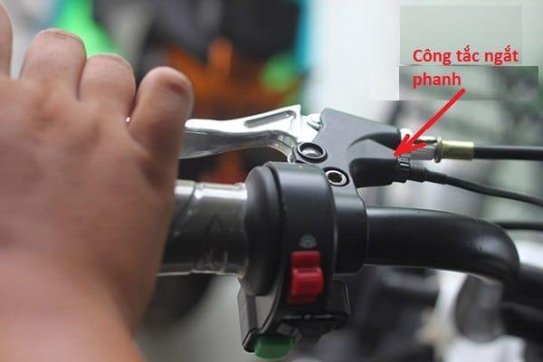 Xe đạp điện không ga được do ngắt phanh