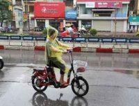 xe đạp điện dính nước mưa