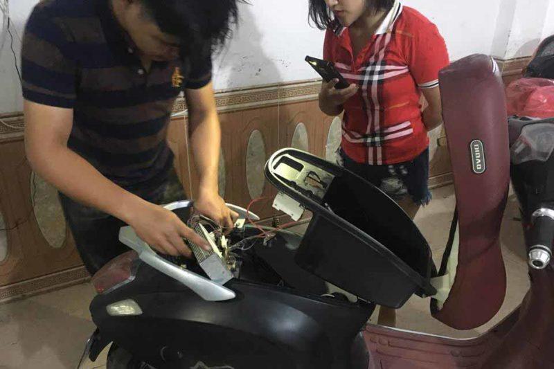 sửa xe đạp điện tại nhà ở Bắc Ninh