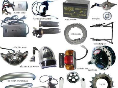 phụ tùng xe đạp điện